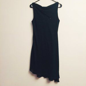 VIRGO Asymmetrical Black Dress WF761